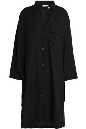 JAMES PERSE Cotton-blend twill shirt dress
