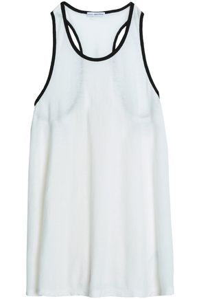 JAMES PERSE Slub cotton and linen-blend jersey tank