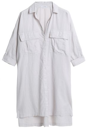 JAMES PERSE Cotton-blend mini shirtdress