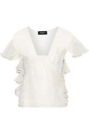 ROCHAS Ruffled silk-organza blouse