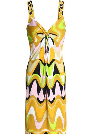 EMILIO PUCCI Twist-front printed stretch-jersey mini dress