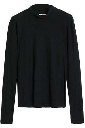 JAMES PERSE Cotton and modal-blend jersey turtleneck top