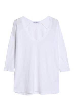 JAMES PERSE Slub cotton and modal-blend jersey top