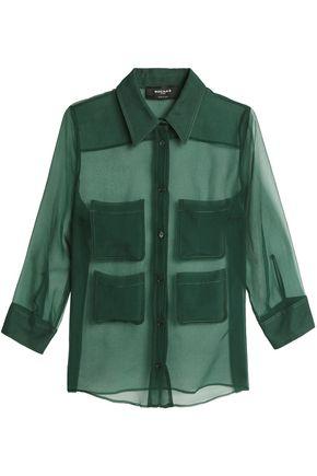 ROCHAS Silk-organza shirt