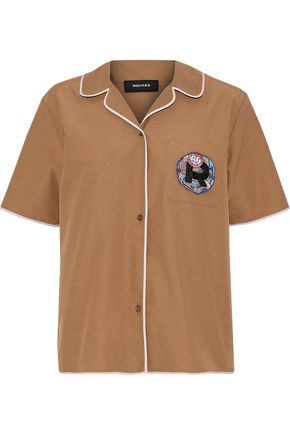 ROCHAS Appliquéd cotton-blend shirt