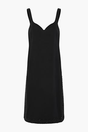 ROCHAS Bead-embellished crepe dress