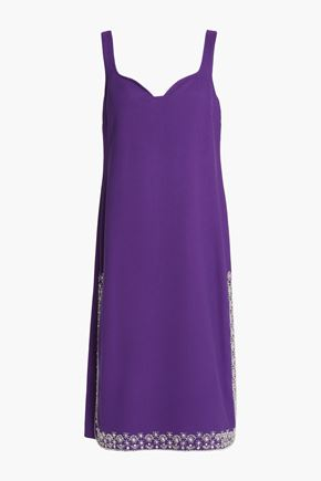 ROCHAS Bead-embellished crepe dress