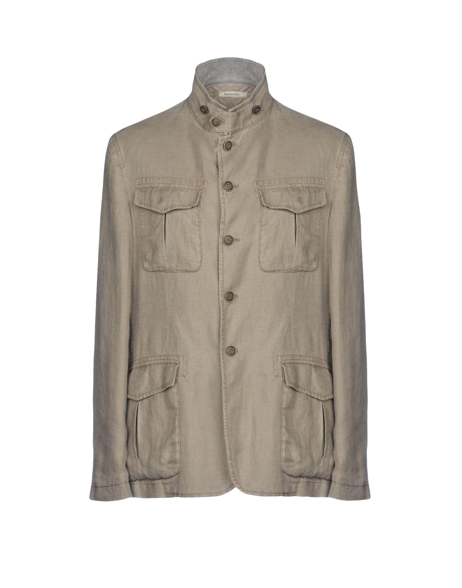 《送料無料》MANUEL RITZ メンズ テーラードジャケット ベージュ 54 麻 100%