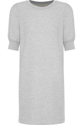 CURRENT/ELLIOTT The Pleat French cotton-blend terry mini dress