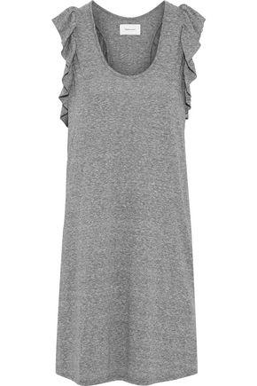 CURRENT/ELLIOTT The Cadence ruffle-trimmed marled jersey mini dress