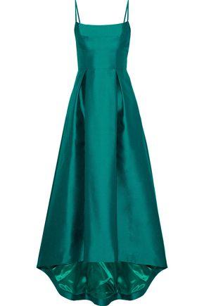BLACK HALO Adashi pleated duchesse satin-twill gown