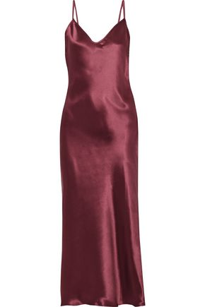 SIMON MILLER Esmond silk-satin midi slip dress