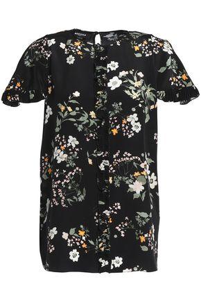 ROCHAS Floral-print silk crepe de chine top
