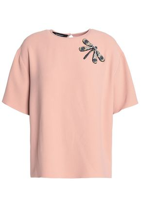 Appliquéd Crepe T Shirt by Rochas