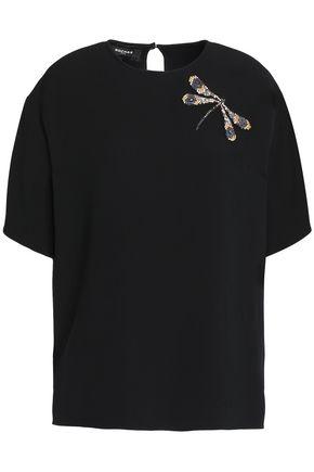 ROCHAS Appliquéd crepe T-shirt