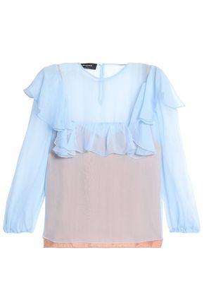 ROCHAS Ruffled silk-voile blouse