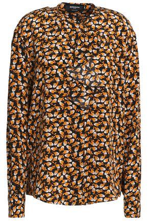 ROCHAS Printed silk-crepe blouse