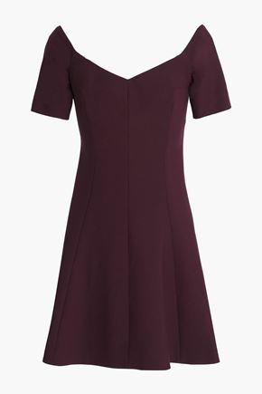 CINQ À SEPT Kenna off-the-shoulder stretch-cady mini dress