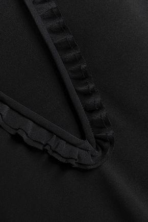 ROCHAS Ruffle-trimmed jersey dress