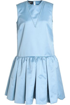 ROCHAS Pleated duchesse-satin dress