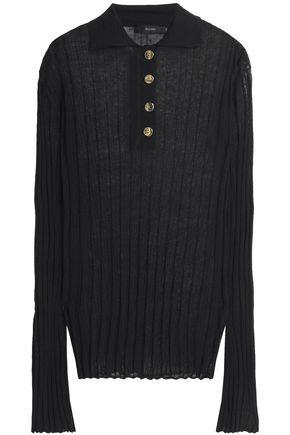 ELLERY Mountain Angel ribbed linen-blend polo shirt