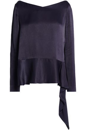 HOUSE OF DAGMAR Draped satin blouse