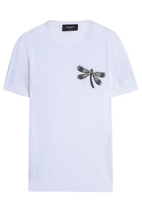 ROCHAS Embellished appliquéd cotton top
