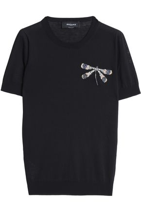 Embellished Appliquéd Cotton Top by Rochas