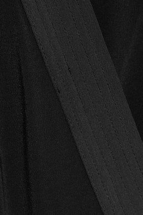 IRIS & INK Penny wrap-effect crepe  jumpsuit