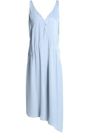 HOUSE OF DAGMAR Asymmetric fluted crepe dress