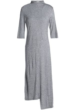 HOUSE OF DAGMAR Asymmetric mélange jersey dress