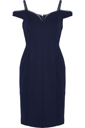 ELIE TAHARI Shanaya cold-shoulder crepe dress