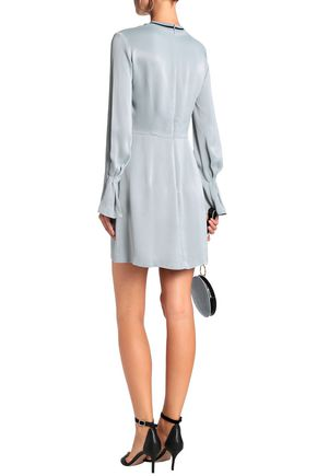 HOUSE OF DAGMAR Fluted satin-crepe mini dress