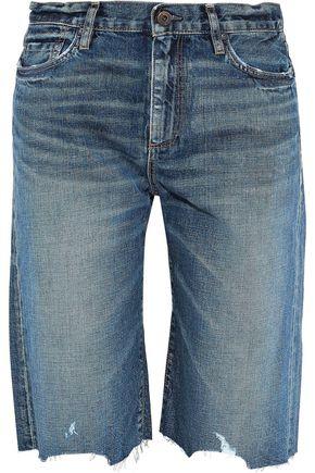 SIMON MILLER Gannett distressed denim shorts
