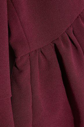 IRIS & INK Dana fluted crepe dress