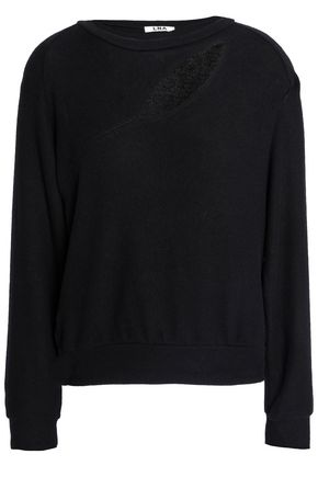 LNA Cutout brushed stretch-Tencel sweatshirt