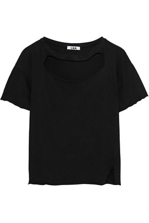 LNA Cutout cotton-jersey T-shirt
