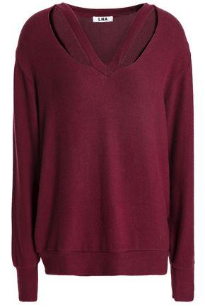 LNA Double Fallon cutout stretch-Tencel sweater
