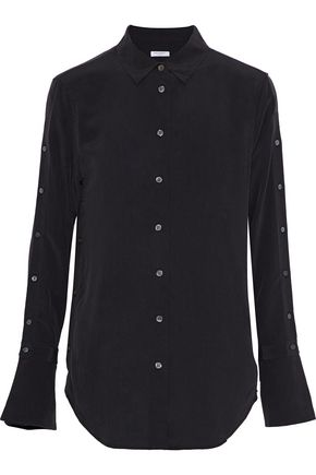 EQUIPMENT Rossi button-detailed washed-silk shirt