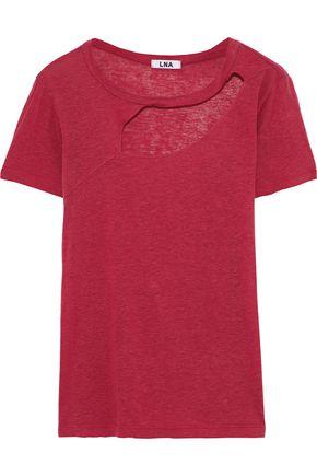 LNA Reprise cutout slub jersey T-shirt