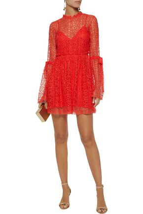 092004bc8d ALICE McCALL Back To You tulle-trimmed guipure lace mini dress