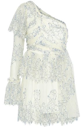 ALICE McCALL Lovely one-shoulder lace mini dress