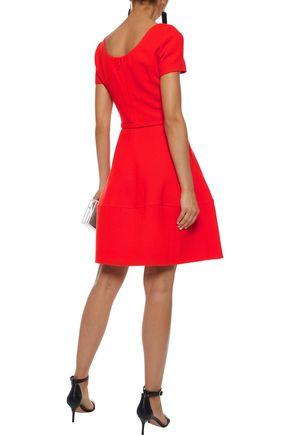 OSCAR DE LA RENTA Belted wool-crepe dress