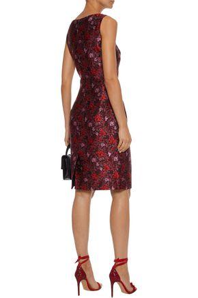 OSCAR DE LA RENTA Brocade dress