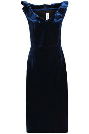 EMILIO de la MORENA Off-the-shoulder ruffled velvet midi dress
