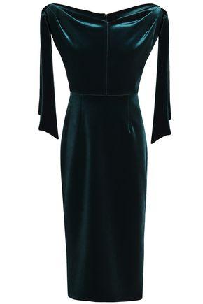 EMILIO de la MORENA Off-the-shoulder velvet midi dress