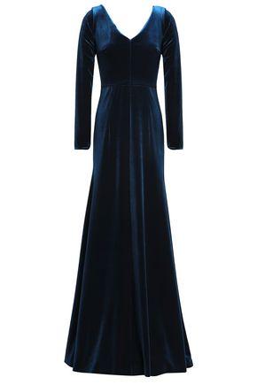 EMILIO de la MORENA Fluted velvet gown