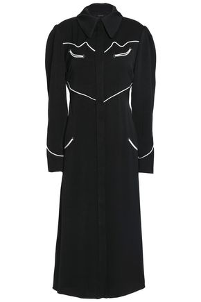 ELLERY Fluted crepe midi shirtdress