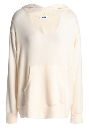 LNA Cutout brushed stretch-Tencel hoodie