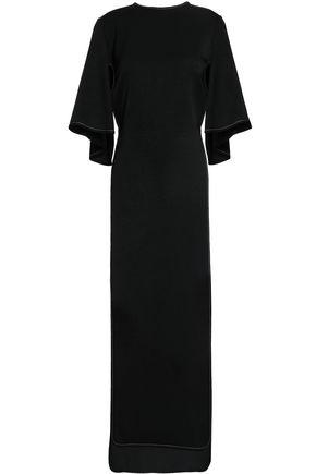 ELLERY Cutout draped crepe midi dress